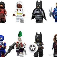 Reproducciones Figuras de Acción: LOTE DE 8 FIGURAS COMPATIBLES CON LEGO HEIMDALL, TORMENTA, EJECUTOR SKURGE, CAPITAN AMERICA EN SPIDE. Lote 151666802