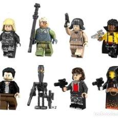 Reproducciones Figuras de Acción: LOTE DE 8 FIGURAS COMPATIBLES CON LEGO STAR WARS (OBI-WAN KENOBI, PILOTO, LANDO CALRISSIAN, POE DAME. Lote 151666886