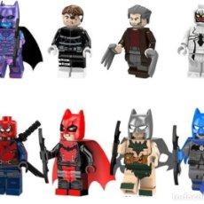 Reproducciones Figuras de Acción: LOTE DE 8 FIGURAS COMPATIBLES CON LEGO SUPER HEROES (BATMAN, THE PUNISHER, WOLVERINE, ANTI-VENOM, SP. Lote 151666926