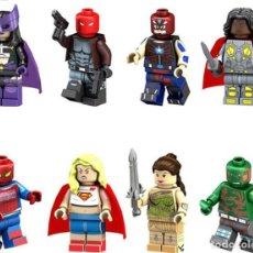 Reproducciones Figuras de Acción: LOTE DE 8 FIGURAS COMPATIBLES CON LEGO SUPER HEROES (CAZADORA, CITIZEN STEEL, VALQUIRIA, SPIDERMAN, . Lote 151666946