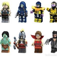 Reproducciones Figuras de Acción: LOTE DE 8 FIGURAS COMPATIBLES CON LEGO SUPER HEROES (VALQUIRIA, TASKMASTER, THANOS, SON OF THANOS, H. Lote 151666986