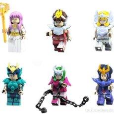 Reproducciones Figuras de Acción: LOTE DE 6 FIGURAS COMPATIBLES CON LEGO SAINT SEIYA (CABALLEROS DEL ZODIACO). Lote 151667046