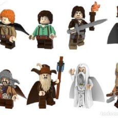 Reproducciones Figuras de Acción: LOTE DE 8 FIGURAS COMPATIBLES CON LEGO EL SEÑOR DE LOS ANILLOS THE HOBBIT. Lote 154561282