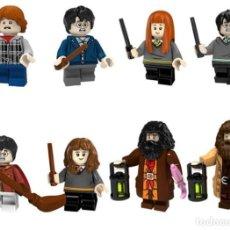 Reproducciones Figuras de Acción: LOTE DE 8 FIGURAS COMPATIBLES CON LEGO HARRY POTTER (RON WEASLEY, HARRY POTTER, GINNY WEASLEY, HERMI. Lote 154561602