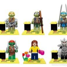Reproducciones Figuras de Acción: LOTE DE 6 FIGURAS COMPATIBLES CON LEGO TORTUGAS NINJA (MODEL 1). Lote 155427622