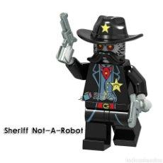 Reproducciones Figuras de Acción: SHERIFF NO ROBOT MINIFIGURAS COMPATIBLE. Lote 193900082