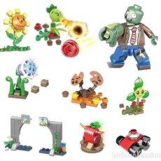 Reproducciones Figuras de Acción: LOTE DE 10 FIGURAS COMPATIBLES CON LEGO PLANTS VS ZOMBIES (PLANTAS CONTRA ZOMBIS) (MODEL 1). Lote 156574286