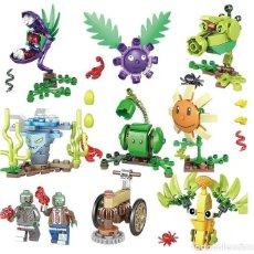 Reproducciones Figuras de Acción: LOTE DE 10 FIGURAS COMPATIBLES CON LEGO PLANTS VS ZOMBIES (PLANTAS CONTRA ZOMBIS) (MODEL 2). Lote 156574302