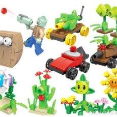 Reproducciones Figuras de Acción: LOTE DE 10 FIGURAS COMPATIBLES CON LEGO PLANTS VS ZOMBIES (PLANTAS CONTRA ZOMBIS) (MODEL 3). Lote 156574314