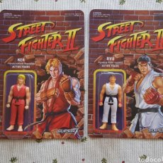 Reproducciones Figuras de Acción: RYU & KEN REACTION FIGURE STREET FIGHTER II - NUEVO A ESTRENAR CAPCOM SUPER 7. Lote 160468722