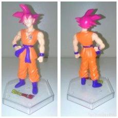 Reproducciones Figuras de Acción: FIGURA DRAGON BALL Z SUPER GOKU SUPER SAIYAN DIOS 12 CM. Lote 164073114