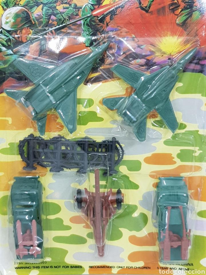 Reproducciones Figuras de Acción: Combat Set vehículos de combate y línea de alambrada trinchera de plástico medida avión 10 cm - Foto 2 - 165440509