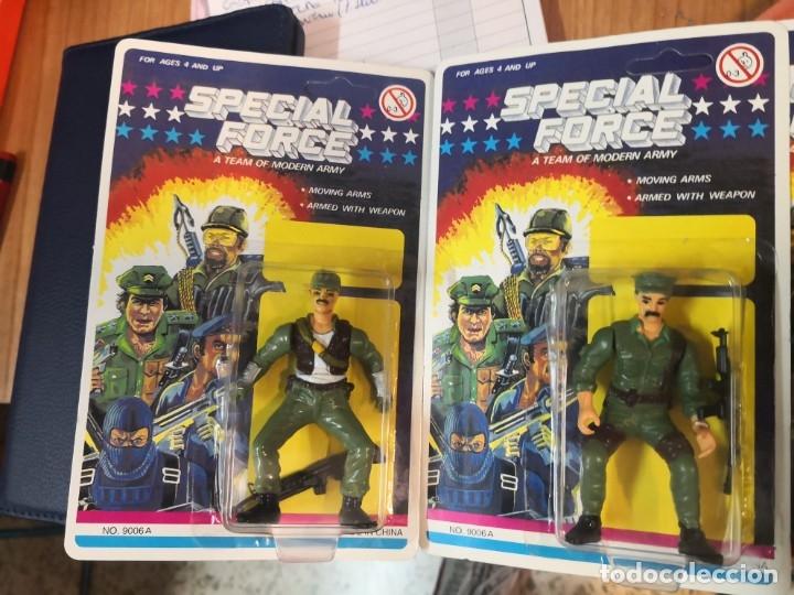 Reproducciones Figuras de Acción: 4 blister soldados SPECIAL FORCE A TEAM MODERN ARMY (TIPO GI JOE) AÑOS 90. Ideal coleccionistas - Foto 2 - 183283600