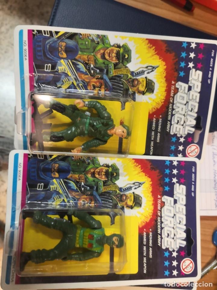 Reproducciones Figuras de Acción: 4 blister soldados SPECIAL FORCE A TEAM MODERN ARMY (TIPO GI JOE) AÑOS 90. Ideal coleccionistas - Foto 3 - 183283600