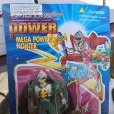Reproducciones Figuras de Acción: BLISTER FIGURA MEGA POWER FIGTHER TÍPO POWER RANGER VERSIÓN CHINÁ COLECCIONABLE AÑO 1994. Lote 190013715