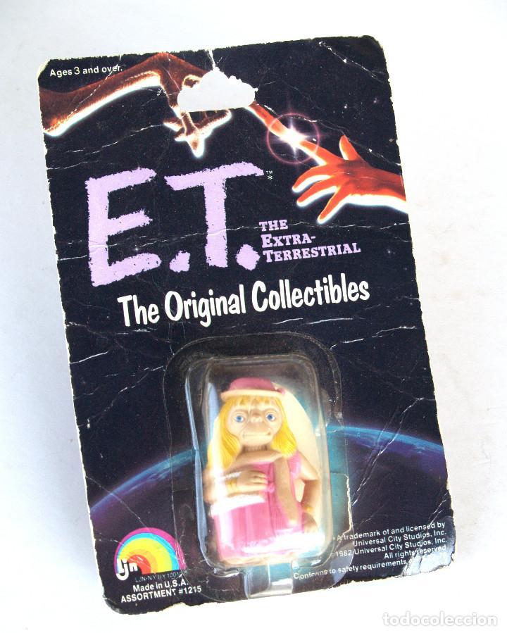 E.T. EL EXTRATERRESTRE • FIGURA 6 CM ET DISFRAZADO • BLISTER ORIGINAL USA SIN ABRIR 1982 (Juguetes - Reproducciones Figuras de Acción)