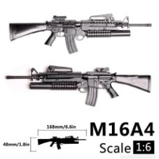 Reproducciones Figuras de Acción: LOTE ARMA FUSIL ASALTO M16 A4 - PARA FIGURAS 1/6 DE 30 CM COMO DRAGON, GEYPERMAN, ACTION MAN, ETC... Lote 201733101