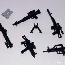 Reproducciones Figuras de Acción: LOTE NUEVO - ACCESORIOS MILITARES Y ARMAS MODERNAS PARA MINIFIGURAS LEGO Y BRICKS CUSTOM COMPATIBL. Lote 270349488