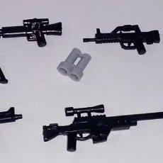 Reproducciones Figuras de Acción: LOTE NUEVO - ACCESORIOS MILITARES Y ARMAS MODERNAS PARA MINIFIGURAS LEGO Y BRICKS CUSTOM COMPATIBL. Lote 201983536