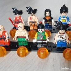 Reproducciones Figuras de Acción: 8 FIGURAS DRAGON BALL Z COMPATIBLE LEGO, GOKU, CHIAOTZU, VEGETA, TIEN, SHINHAN, VIOLETT KRILLIN. Lote 205727021