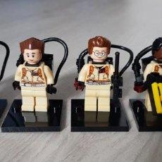 Reproducciones Figuras de Acción: PACK LOTE 4 FIGURAS CAZAFANTASMAS GHOSTBUSTERS COMPATIBLE CON LEGO.. Lote 205730205