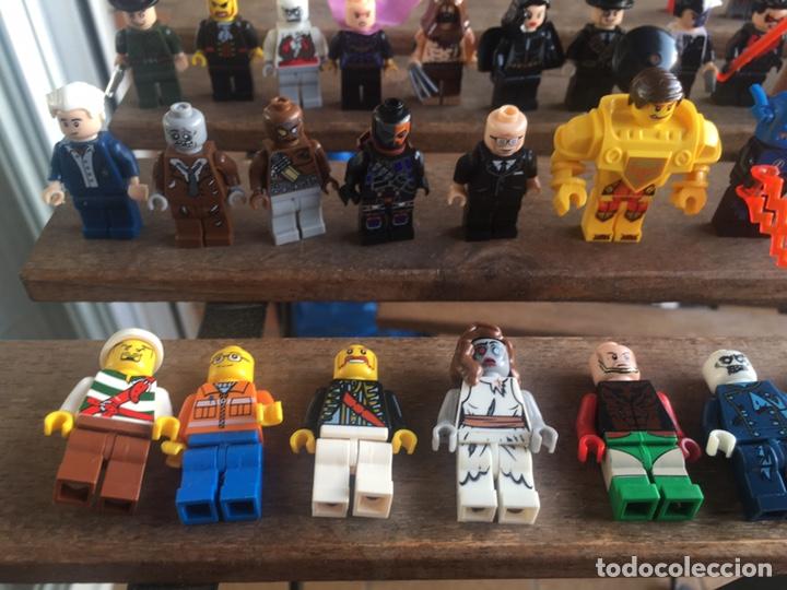 Reproducciones Figuras de Acción: GRAN LOTE 64 FIGURAS TIPO LEGO. NO TENTE. - Foto 2 - 205868222