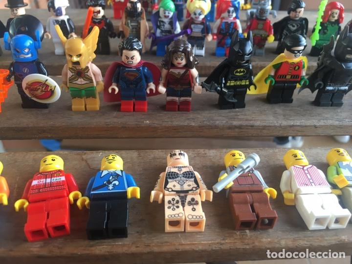 Reproducciones Figuras de Acción: GRAN LOTE 64 FIGURAS TIPO LEGO. NO TENTE. - Foto 4 - 205868222