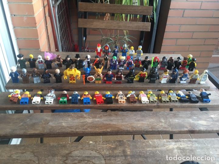 GRAN LOTE 64 FIGURAS TIPO LEGO. NO TENTE. (Juguetes - Reproducciones Figuras de Acción)