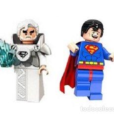 Reproducciones Figuras de Acción: LOTE DE 2 FIGURAS CONSTRUCCION JOR-EL (SUPERMAN), SUPERMAN. Lote 253944645
