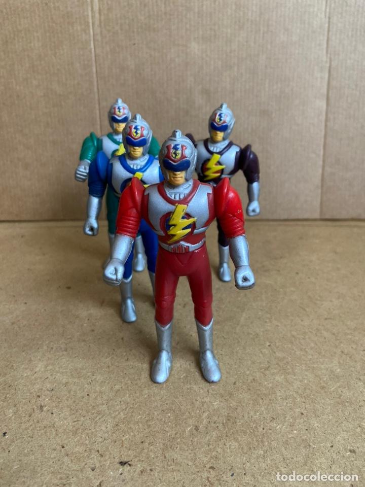Reproducciones Figuras de Acción: Pequeña colección de figuras bootleg fake similares a power rangers, bioman, ultraman, etc... - Foto 2 - 210752532