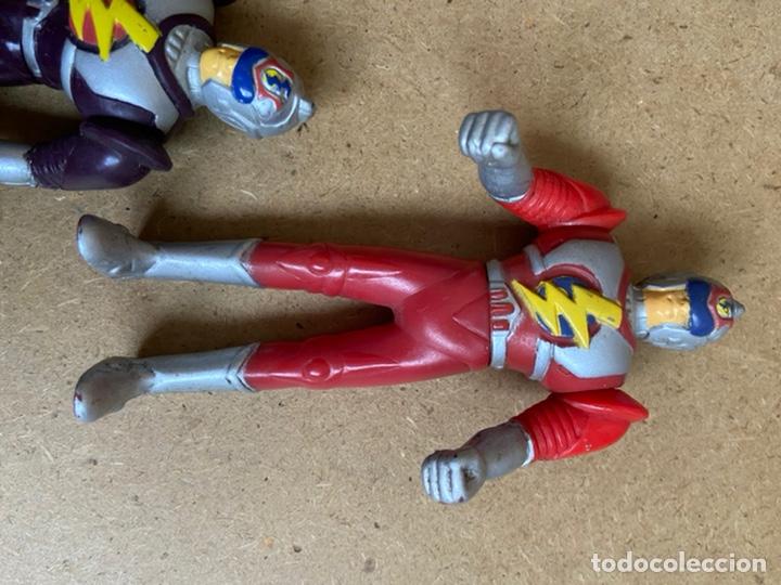Reproducciones Figuras de Acción: Pequeña colección de figuras bootleg fake similares a power rangers, bioman, ultraman, etc... - Foto 5 - 210752532