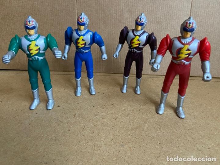 Reproducciones Figuras de Acción: Pequeña colección de figuras bootleg fake similares a power rangers, bioman, ultraman, etc... - Foto 8 - 210752532