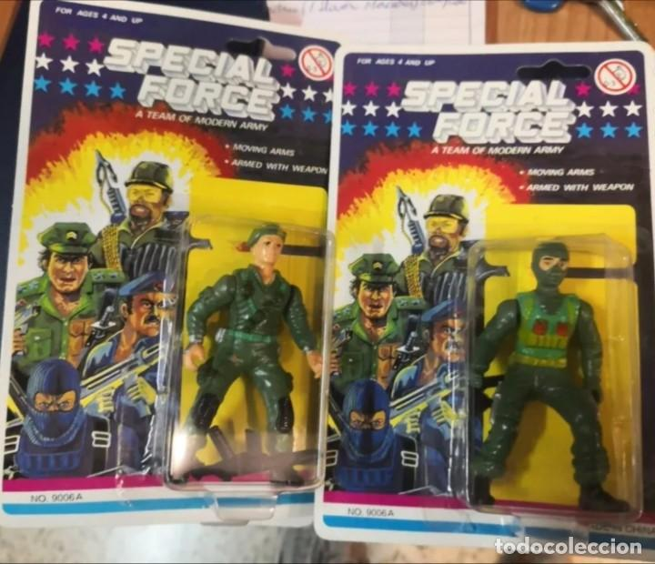 2 BLISTER SOLDADOS SPECIAL FORCE A TEAM MODERN ARMY (TIPO GI JOE) AÑOS 90. (Juguetes - Reproducciones Figuras de Acción)