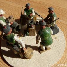 Reproducciones Figuras de Acción: CONJUNTO SOLDADOS EN REUNIÓN, AÑOS 60, PINTADOS A MANO.. Lote 225817656