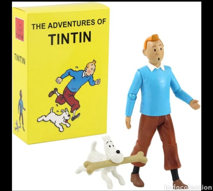 FIGURA ARTICULABLE DE TINTIN (Juguetes - Reproducciones Figuras de Acción)