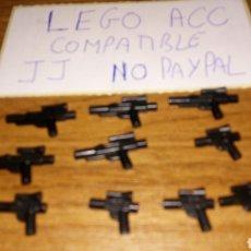 Reproducciones Figuras de Acción: LOTE 10 ARMAS PISTOLAS LEGO COMPATIBLE TIPO STAR WARS DOS TAMAÑOS DIFERENTES. Lote 236443075