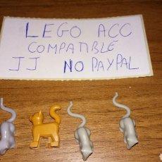 Reproducciones Figuras de Acción: LOTE 3 RATA RATÓN Y GATO LEGO COMPATIBLE. Lote 236446870