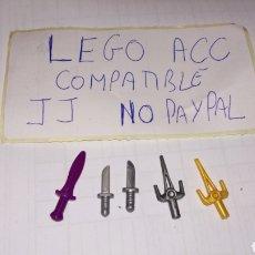 Reproducciones Figuras de Acción: LOTE 5 DAGA CUCHILLO PUÑAL LEGO COMPATIBLE. Lote 237204750