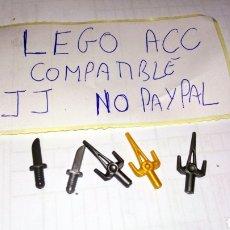 Reproducciones Figuras de Acción: LOTE 5 DAGA CUCHILLO PUÑAL LEGO COMPATIBLE. Lote 237204870