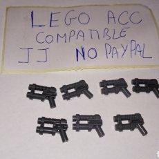 Reproducciones Figuras de Acción: LOTE 7 PISTOLA LASER TIPO STAR WARS LEGO COMPATIBLE. Lote 237400335