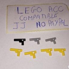 Reproducciones Figuras de Acción: LOTE 7 PISTOLA REVOLVER LEGO COMPATIBLE. Lote 237400830