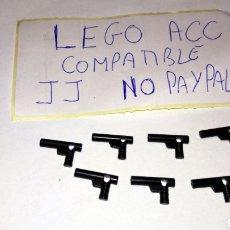 Reproducciones Figuras de Acción: LOTE 7 PISTOLA REVOLVER LEGO COMPATIBLE NEGRAS. Lote 237401055