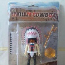 Reproducciones Figuras de Acción: BOOTLEG PLAYMOBIL SERIE INDIAN COWBOY DE KELLY TOYS. Lote 242135485