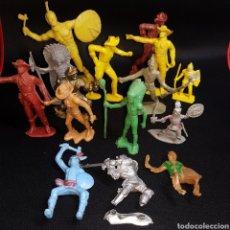 Reproducciones Figuras de Acción: (L4) 15 FIGURAS ANTIGUAS - WESTERN - VAQUEROS Y INDIOS - SOLDADO JAPONES Y GLADIADORES. Lote 244540600