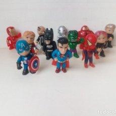 Reproducciones Figuras de Acción: LOTE DE 12 FIGURITAS DE HEROES DE LA MARVEL. Lote 248285060