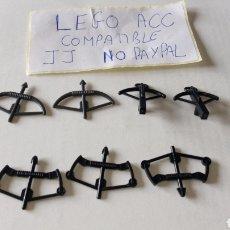 Reproducciones Figuras de Acción: LOTE LEGO COMPATIBLE ARCOS ARCO BALLESTAS BALLESTA LO Q SE VE EN LA FOTO. Lote 261169040