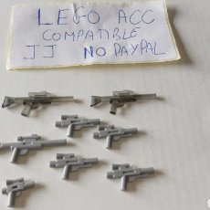 Reproducciones Figuras de Acción: LOTE LEGO COMPATIBLE 8 PISTOLAS TIPO STAR WARS, LO Q SE VE EN LA FOTO. Lote 261169255