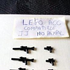 Reproducciones Figuras de Acción: LOTE LEGO COMPATIBLE 10 ARMAS PISTOLA GRANDE Y PEQUEÑA TIPO STAR WARS LO QUE SE VE EN LA FOTO. Lote 261171275