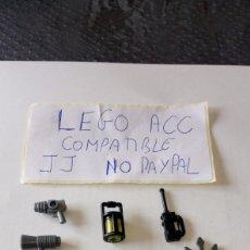 Reproducciones Figuras de Acción: LOTE LEGO COMPATIBLE 9 PIEZAS TRIDENTE TALKIE FAROL BALLESTA MEGÁFONO HACHA PISTOLA STAR WARS TIPO. Lote 261176445