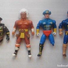 Reproductions Figurines d'Action: LOTE DE 4 FIGURAS MUÑECOS D ACCIÓN FAKE BOOTLEG X-CHANGERS XCHANGERS COSMIC COWBOYS ACAMAS TOYS 1986. Lote 263792360